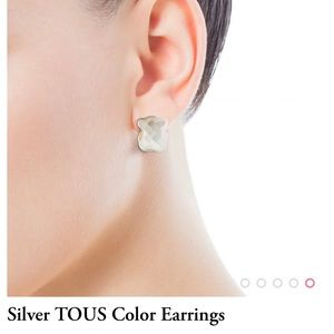 Jewelry - Tous Silver earrings with mother of pearl